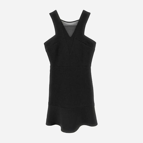 Sandro Black Mesh Cocktail Dress S