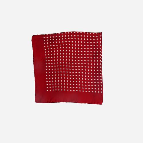 Red Polka Dot Pocketsquare