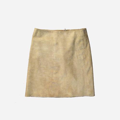 Maxmara Camel Suede Skirt M