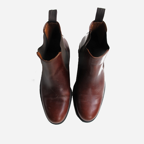 Russell & Bromley Brown Chelsea Boots UK 8