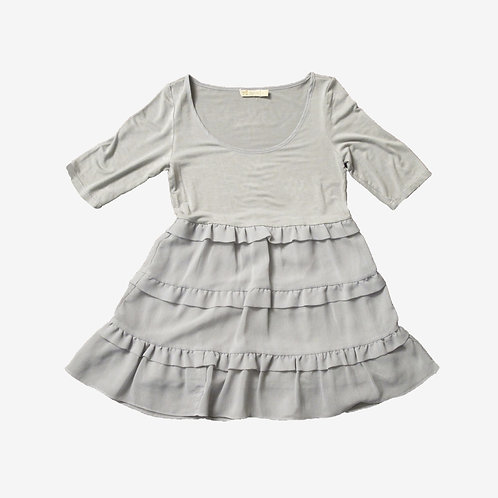 Goldie Long Grey Frill Top M/L