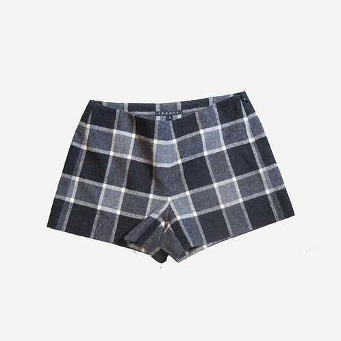 Theory Grey Check Shorts XS