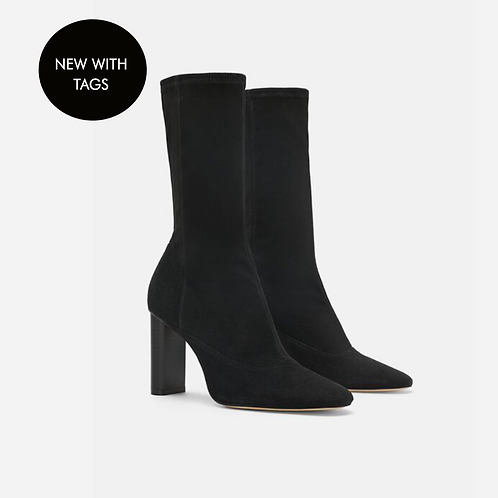 Zara Real Suede Sock Style Ankle Boots UK 6