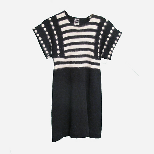 Rosalind Yehuda 1960s Black and White Mini Dress S