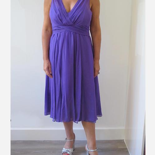 LK Bennett Silk Evening Dress L