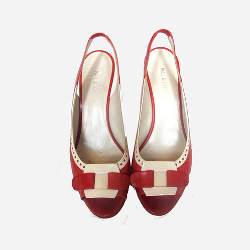 Paul & Joe Red and Cream Sandals 38