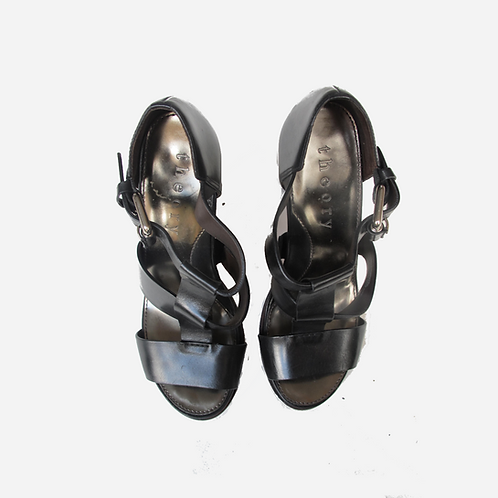 Theory Black Sandals UK 4