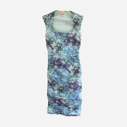 Phase Eight Printed Blue Dress S