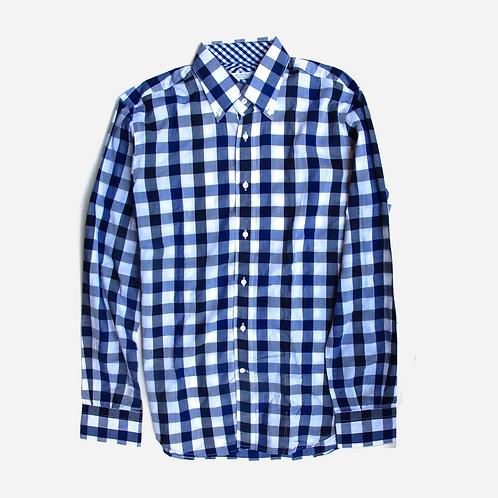 Delsiena Blue Check Shirt M