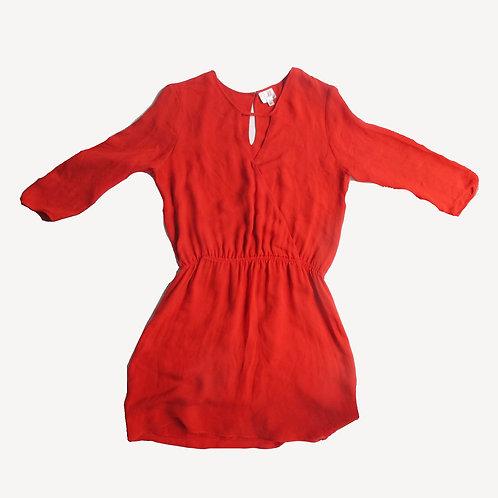 Parker Silk Red Dress M