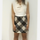 Thumbnail: Pinko Wool Mini Check Skirt S