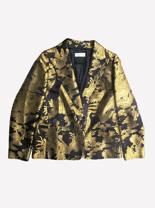 Dries Van Noten Gold Metallic Jacket L