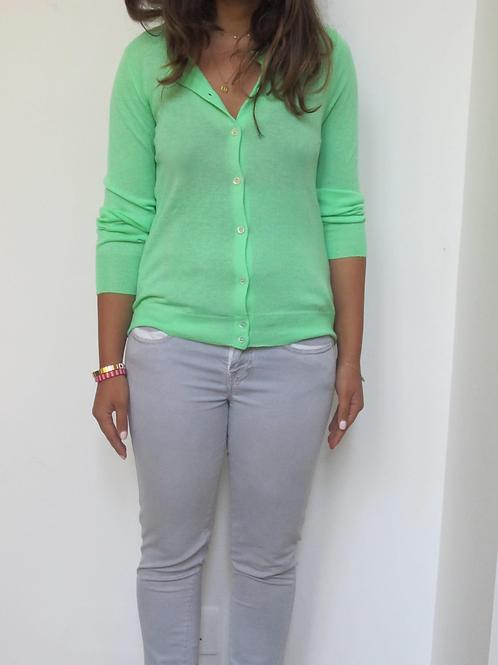 J.Crew Green Soft Cashmere Cardigan XS