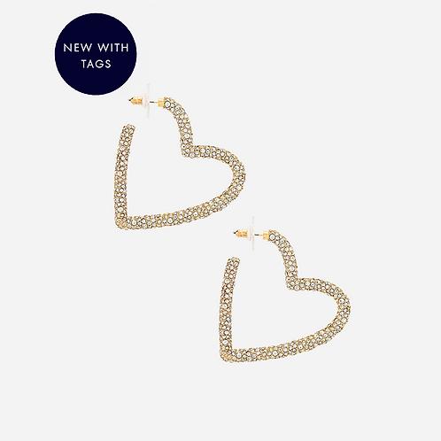 Baublebar Gold Plated Heart Earrings