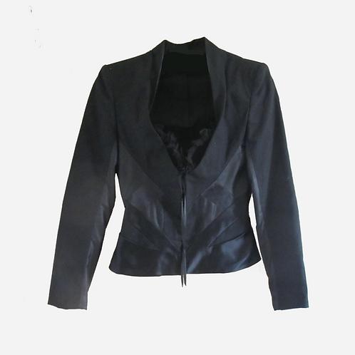 Alexander Mcqueen Black Corset Jacket S