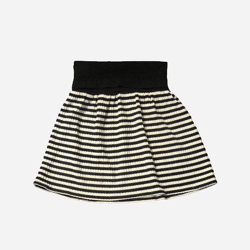 River Island Black and Cream Striped Mini Skirt XS