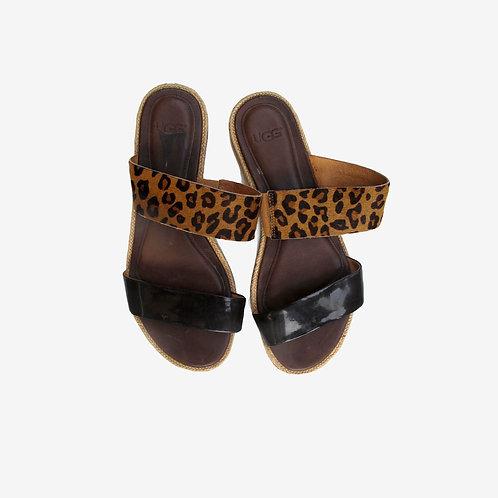 Ugg Amalia Leopard Sandals UK 5.5