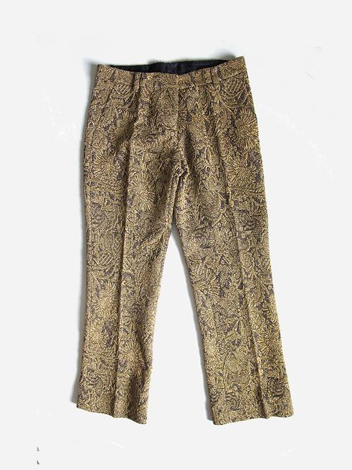 Erika Cavallini Semi-Couture Gold Lurex Trousers M