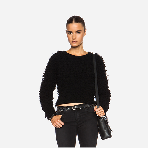 Helmut Lang Black Fluffy Sweater L