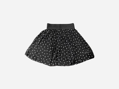 Zara Black Polka Dot Skirt S