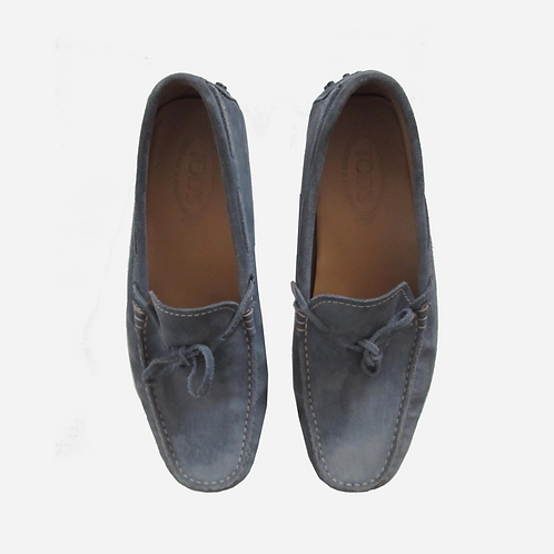 Tod's Suede Blue Loafers UK 8