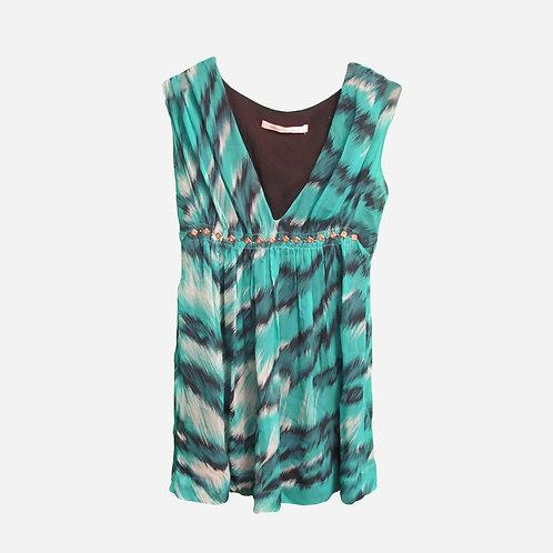 Diane Von Furstenberg Silk Jade Mini Dress XS/ S
