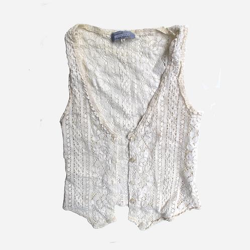 Vintage Lace Waistcoat S