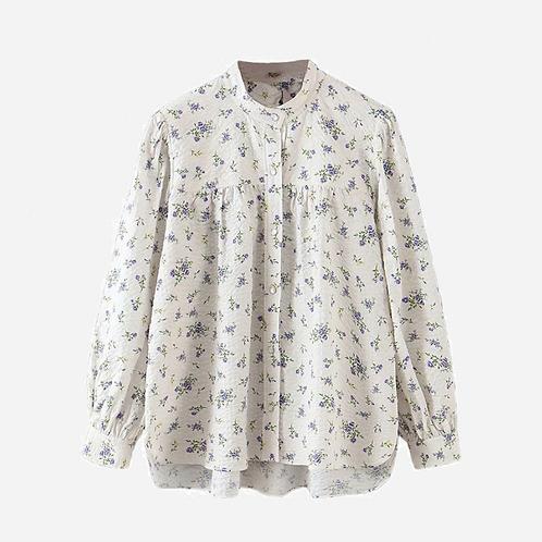 Zara Floral Puff Sleeve Shirt XS