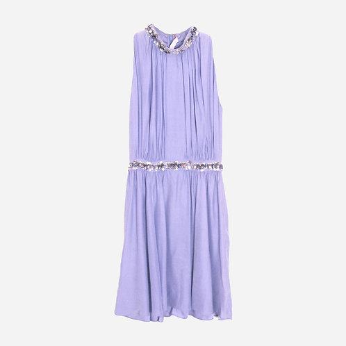 Matthew Williamson Lilac Beaded Dress S