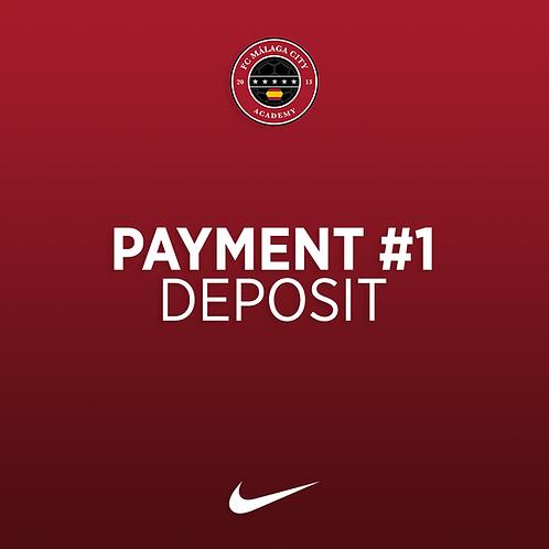 Payment #1: Academy Deposit