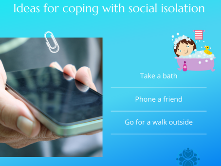 What are some good ways to cope with social isolation?