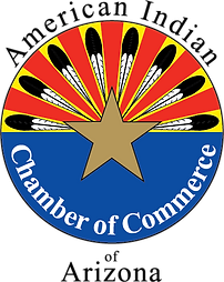 American Indian Chamber of Commerce Logo feathers around a sun
