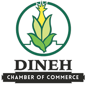 Dine Chamber of Commerce Logo Corn rising from the ground