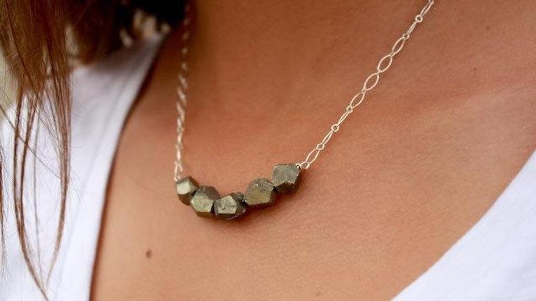 Golden Goddess Pyrite Necklace