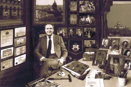 Н.Д. Лобанов в своем кабинете