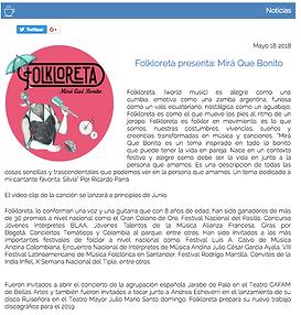 Folkloreta Mirá Qué Bonito