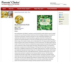 Mundo Verde Green World Parent's Choice Gold Medal