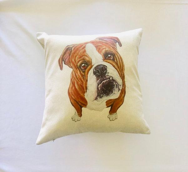 Bulldog Pillow Cover