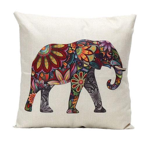 Boho Elephant Pillow Cover