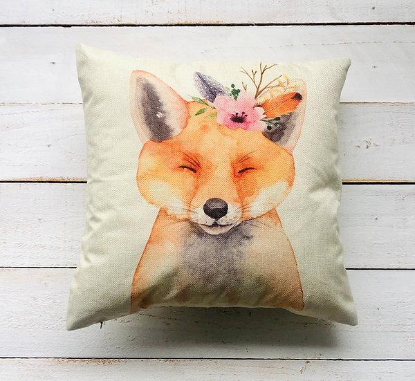 Fox Woodland Animal Pillow Cover