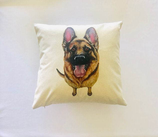 German Shepard Dog Pillow Cover