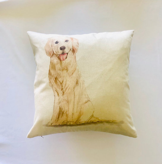 Golden Retriver Pillow Cover