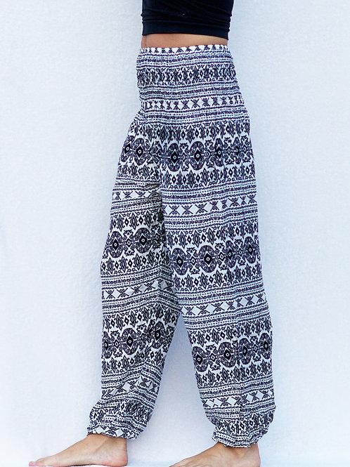 Black Aztec Harem Pants