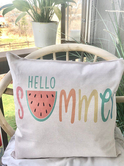 Bright Summer Pillow Cover