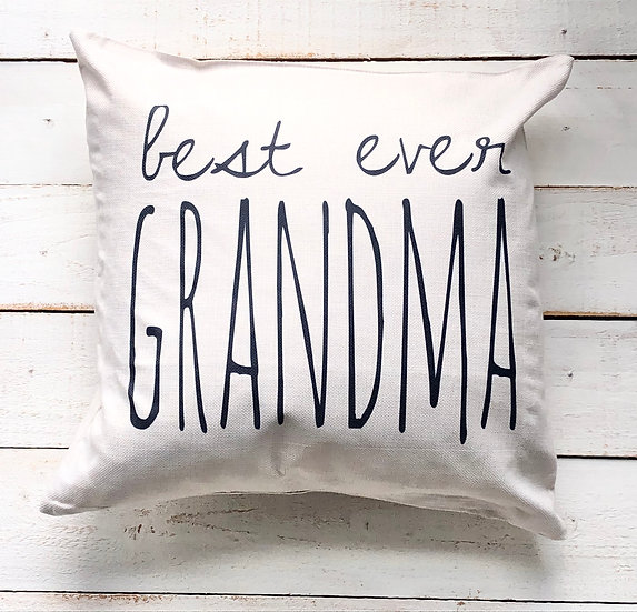 Best Grandma Ever Pillow Cover