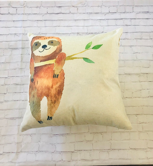 Sloth Pillow Cover