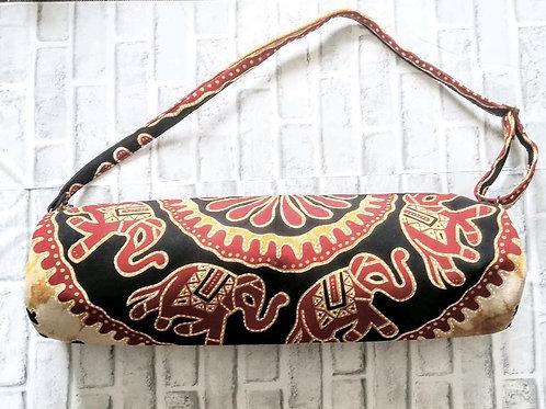 Orange and Red Elephant Yoga Bag