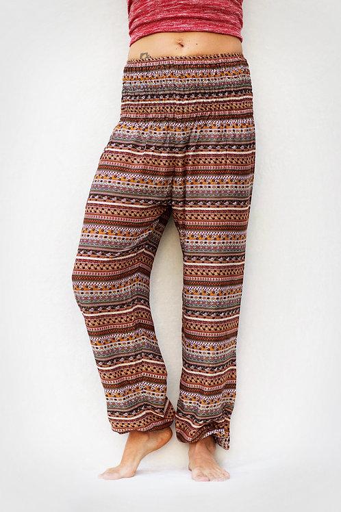 Brown Stripes Harem Pant