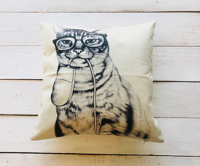 Cat N' Mouse Pillow Cover