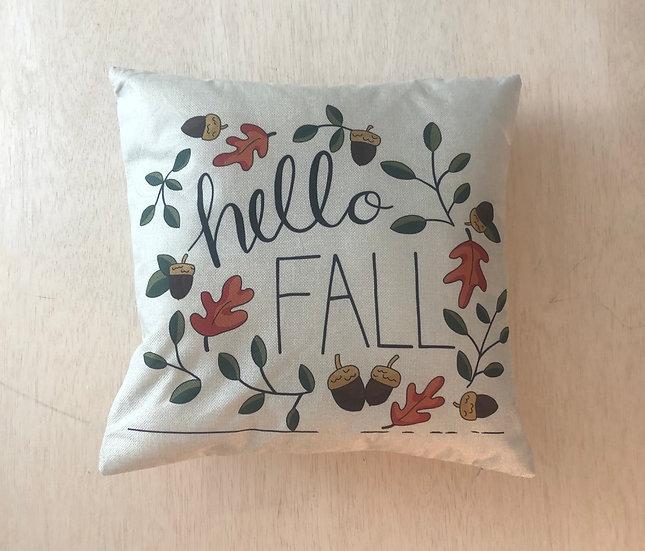 Hello Fall Wreath Cover